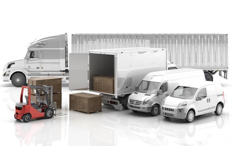 sledovanie nákladných áut